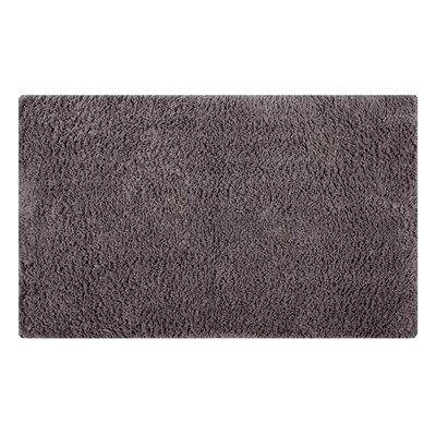 Plain Reversible Bath Rug Size: 34 L x 21 W, Color: Steel Gray