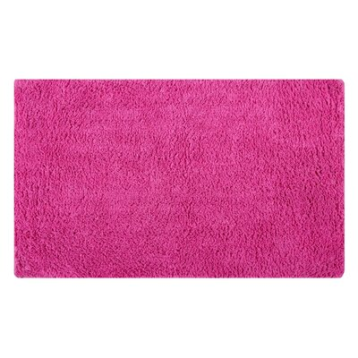 Plain Reversible Bath Rug Size: 34 L x 21 W, Color: Fuchsia
