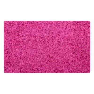 Plain Reversible Bath Rug Size: 24 L x 17 W, Color: Fuchsia