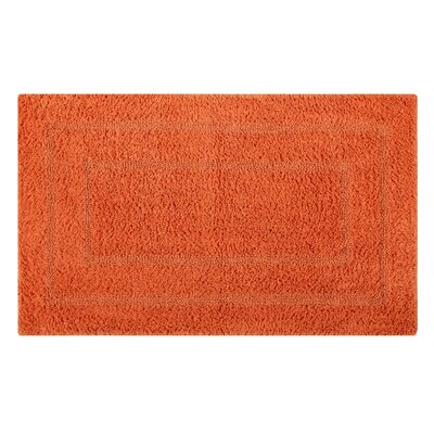 Reversible Double Border Bath Rug Size: 34 L x 21 W, Color: Orange