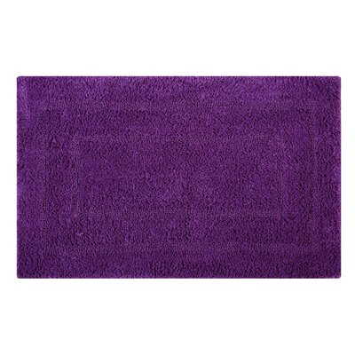 Reversible Double Border Bath Rug Size: 34 L x 21 W, Color: Purple