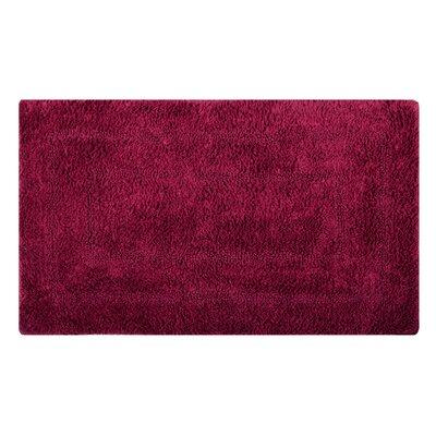 Reversible Double Border Bath Rug Size: 34 L x 21 W, Color: Scarlet