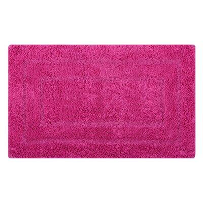 Reversible Double Border Bath Rug Color: Fuchsia, Size: 34 L x 21 W
