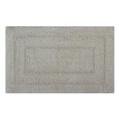 Reversible Double Border Bath Rug Size: 24 L x 17 W, Color: Ivory