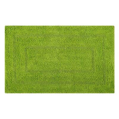 Reversible Double Border Bath Rug Size: 34 L x 21 W, Color: Lime