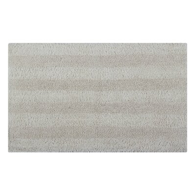 Reversible Horizontally Striped Bath Rug Size: 34 L x 21 W, Color: Ivory