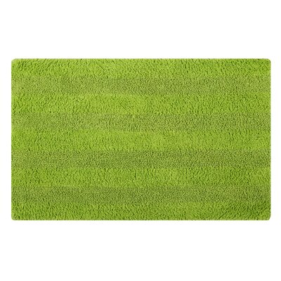 Reversible Horizontally Striped Bath Rug Size: 24 L x 17 W, Color: Lime