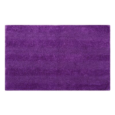 Reversible Horizontally Striped Bath Rug Size: 24 L x 17 W, Color: Purple