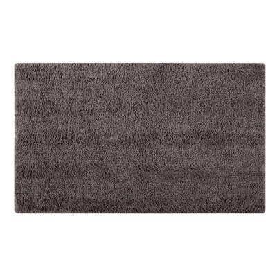 Reversible Horizontally Striped Bath Rug Size: 24 L x 17 W, Color: Steel Gray