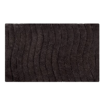 Vertical Wave Striped Bath Rug Size: 24 L x 17 W, Color: Chocolate