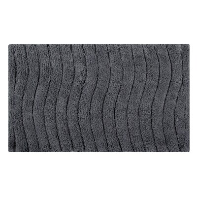 Vertical Wave Striped Bath Rug Size: 24 L x 17 W, Color: Spruce Gray