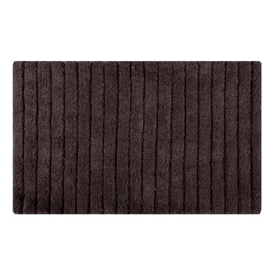 Vertically Striped Bath Rug Size: 34 L x 21 W, Color: Chocolate