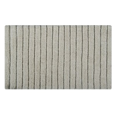 Vertically Striped Bath Rug Size: 34 L x 21 W, Color: Ivory