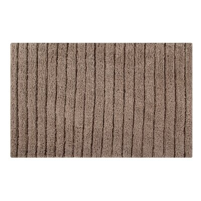 Vertically Striped Bath Rug Size: 34 L x 21 W, Color: Taupe