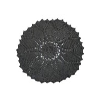Charcoal Area Rug Rug Size: Round 6