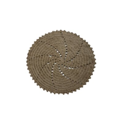 Tan Area Rug Rug Size: Round 4