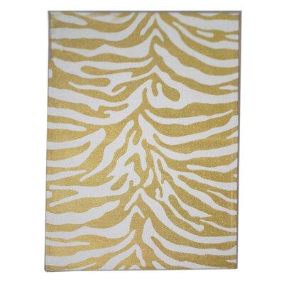 Zebra Dark Gold Area Rug Rug Size: 3 x 5