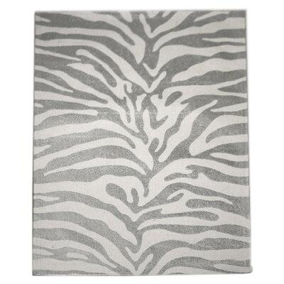 Zebra Silver Area Rug Rug Size: 4 x 6