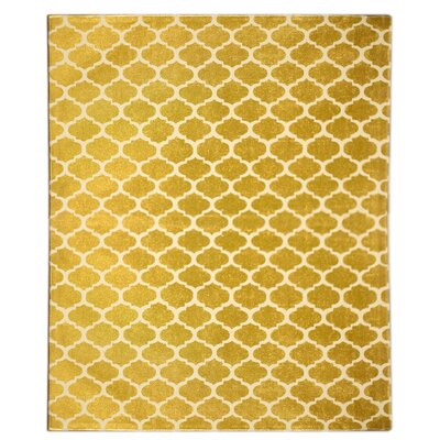 Coin Gold Area Rug Rug Size: 4 x 6