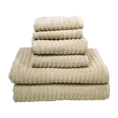 Ribbed 6 Piece Towel Set Color: Oat