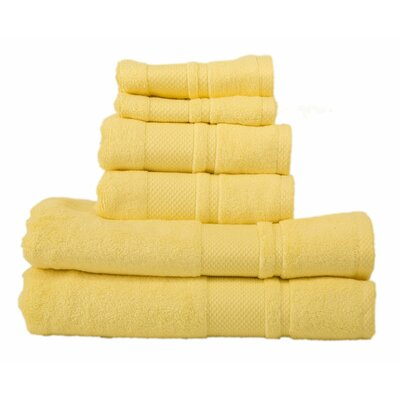Plain 6 Piece Towel Set Color: Sunshine