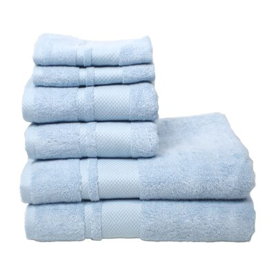 Plain 6 Piece Towel Set Color: Sky Blue