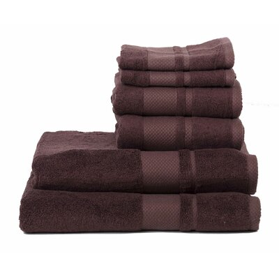 Plain 6 Piece Towel Set Color: Chocolate