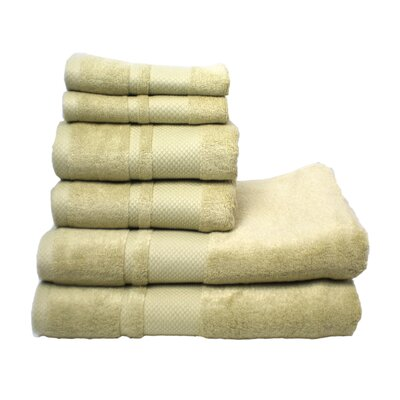 Plain 6 Piece Towel Set Color: Celery Green