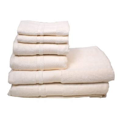 Plain 6 Piece Towel Set Color: Ivory