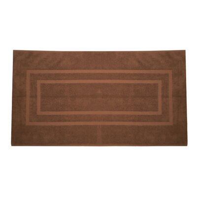 Plain Bath Rug Color: Chocolate