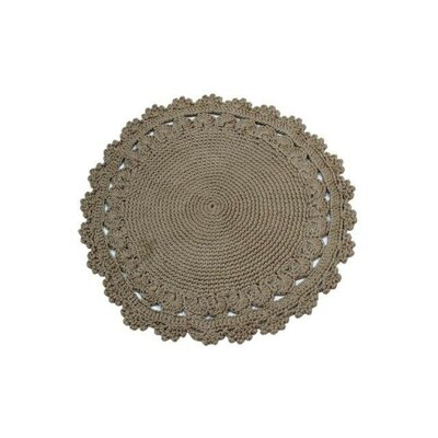Tan Area Rug Rug Size: Round 3