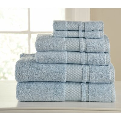 Plain 6 Piece Towel Set Color: Sky Blue