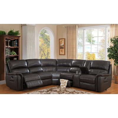 HYDELINEBYAMAX Camino-SECT Camino Leather Reversible Reclining Sectional