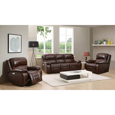 HYDELINEBYAMAX WestminsterII-SCC Westminster II Leather Sofa and 2 Recliners Set