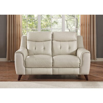 Paramount Leather Reclining Loveseat