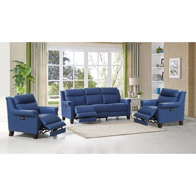 Dolce Leather 3 Piece Living Room Set