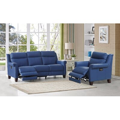 Dolce Leather 2 Piece Living Room Set