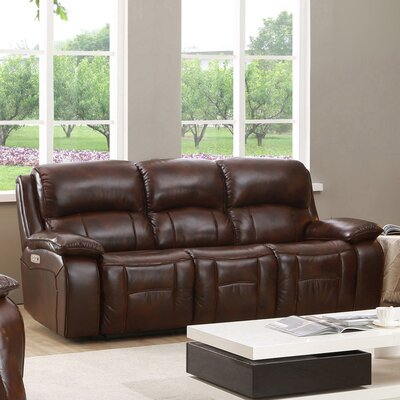 HYDELINEBYAMAX WestminsterII-S Westminster II Leather Reclining Sofa