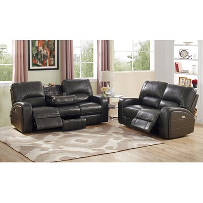 Woodhull Leather Sofa and Loveseat Set