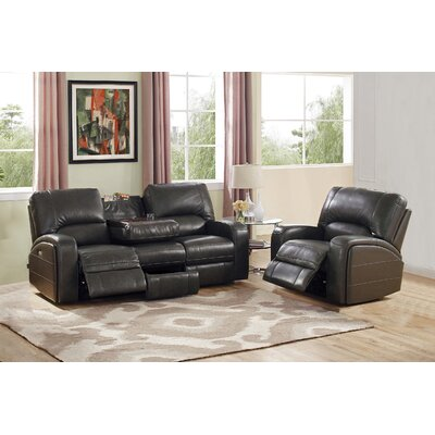 Red Barrel Studio RBRS2127 Woodhull Leather Sofa and Recliner Set