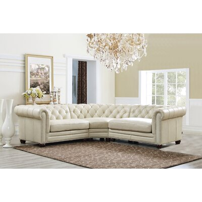 Jonah Cream Leather Sectional