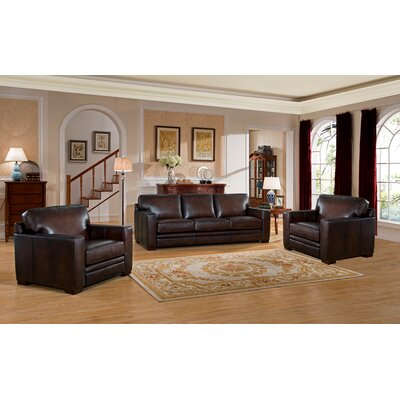 Mcdonald Leather 3 Piece Living Room Set