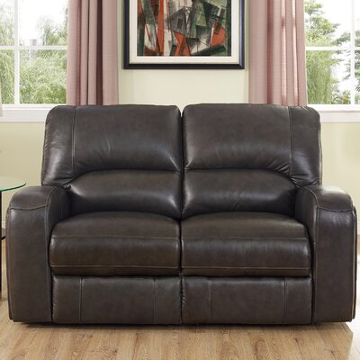 Woodhull Leather Reclining Loveseat