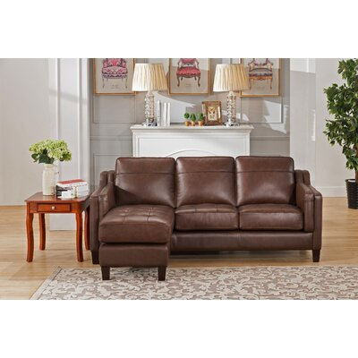 Katherine Leather Reversible Sectional