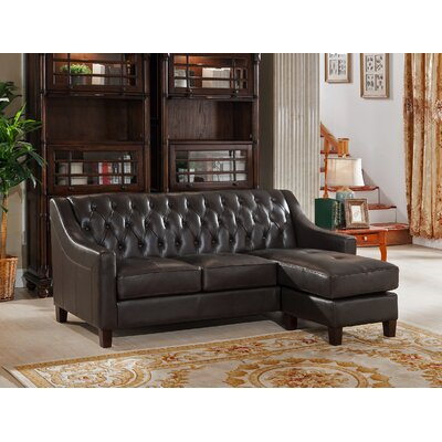 Charley Leather Reversible Sectional