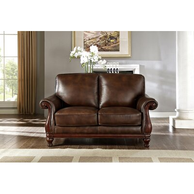Autumn Top Grain Leather Loveseat