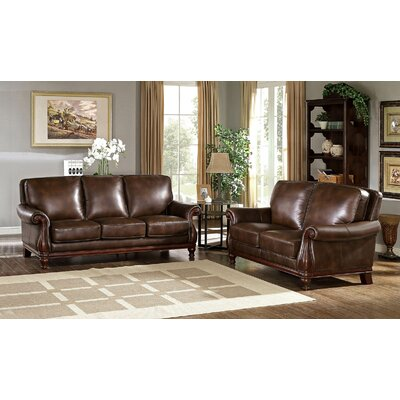 Autumn Leather 2 Piece Living Room Set