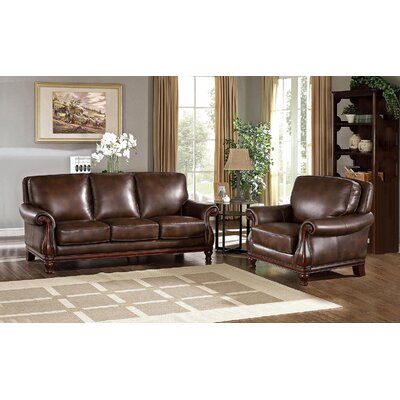Autumn Leather 2 Piece Living Room Set