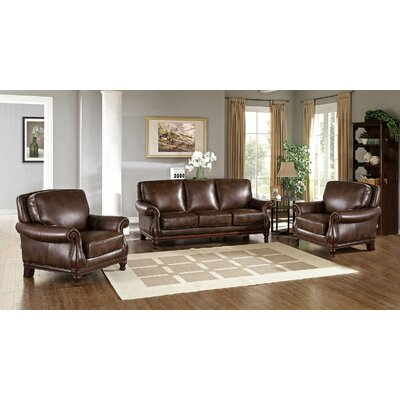Autumn Leather 3 Piece Living Room Set