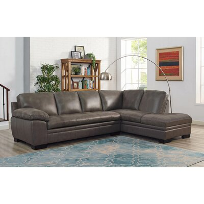 Nick Leather Sectional with Ottoman